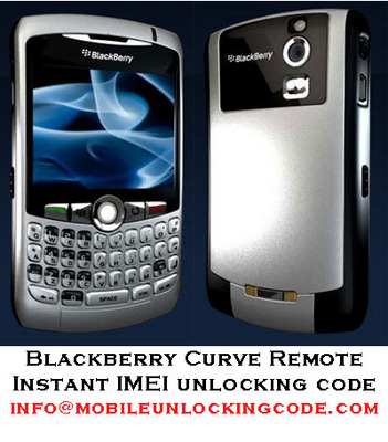 Product picture Blackberry Curve 8300 IMEI Unlock Code